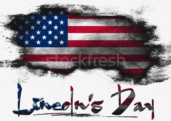 Flag of United States, Lincoln Day Stock photo © tang90246