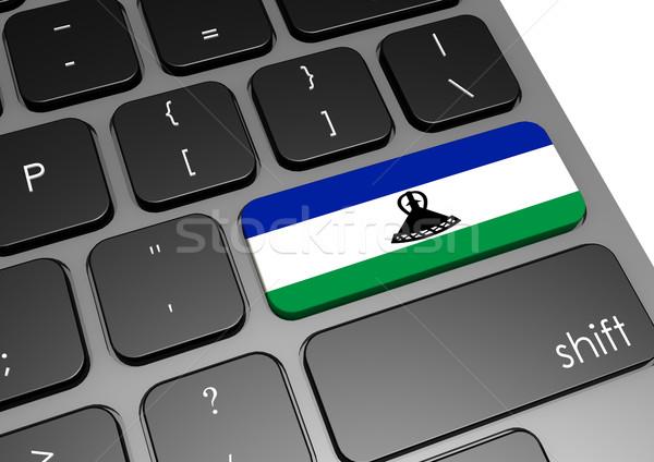 Lesotho klawiatury obraz świadczonych używany Zdjęcia stock © tang90246