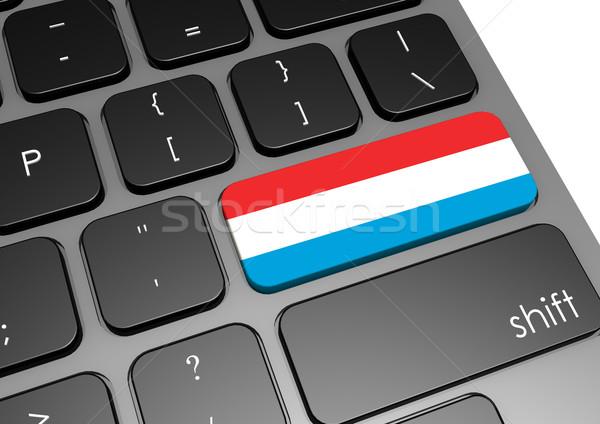 Luxemburg toetsenbord afbeelding gerenderd gebruikt Stockfoto © tang90246