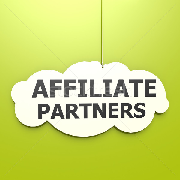 Affiliate partners word in green background Stock photo © tang90246