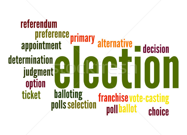 Election word cloud Stock photo © tang90246