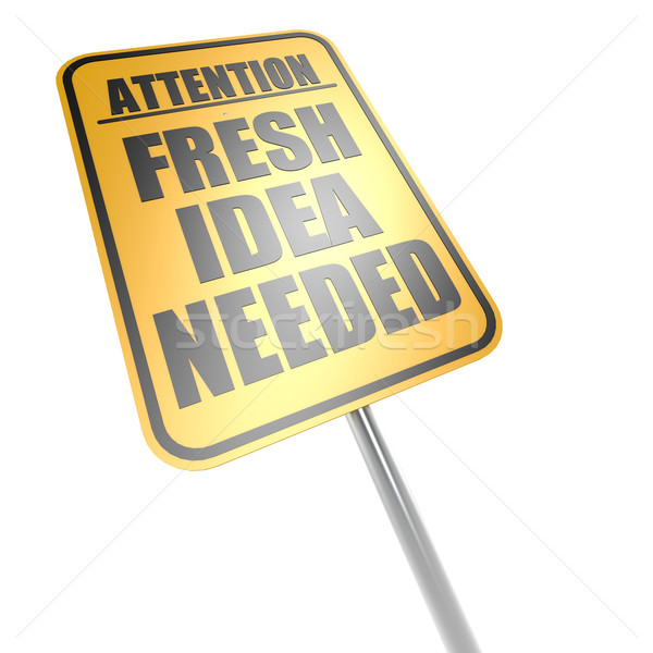 Fresh idea needed road sign Stock photo © tang90246