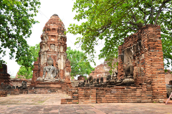 Ayutthaya Historical Pagoda Stock photo © tang90246