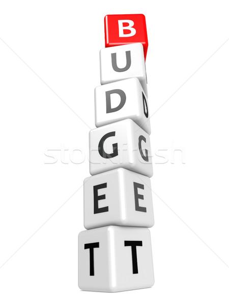 Budget afbeelding gerenderd gebruikt Stockfoto © tang90246