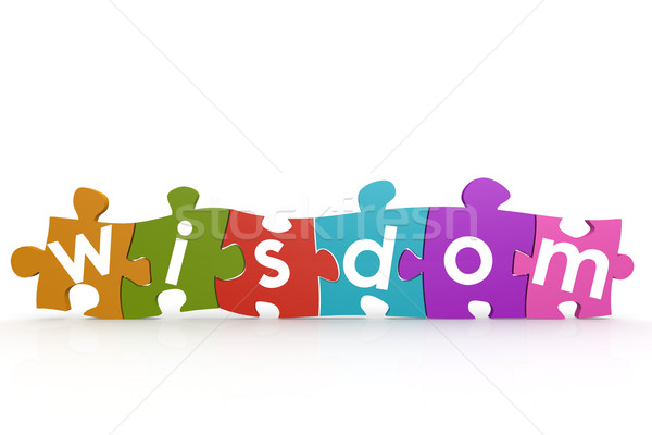 Colorful puzzle with wisdom word Stock photo © tang90246