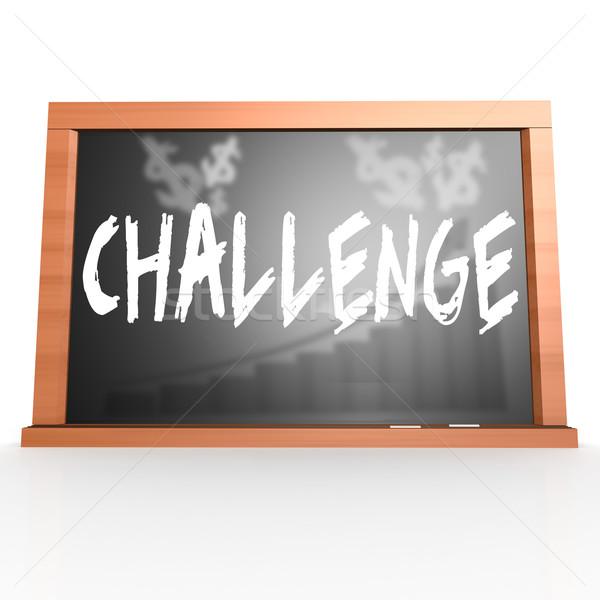 Wyzwanie słowo obraz świadczonych Zdjęcia stock © tang90246