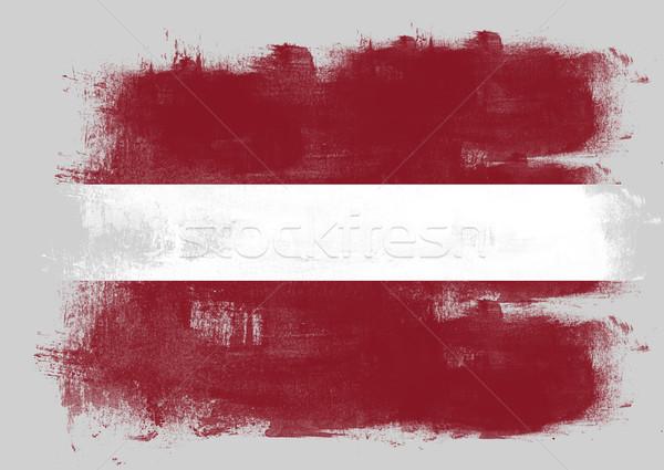 Vlag Letland geschilderd borstel solide abstract Stockfoto © tang90246