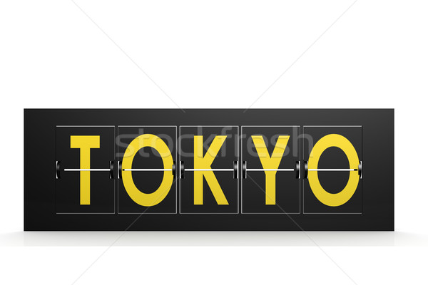Tokyo word on airport sign Stock photo © tang90246