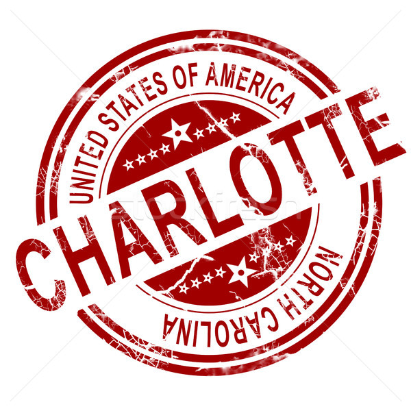 Charlotte stamp with white background Stock photo © tang90246