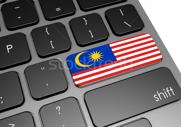 Malásia teclado imagem prestados usado Foto stock © tang90246