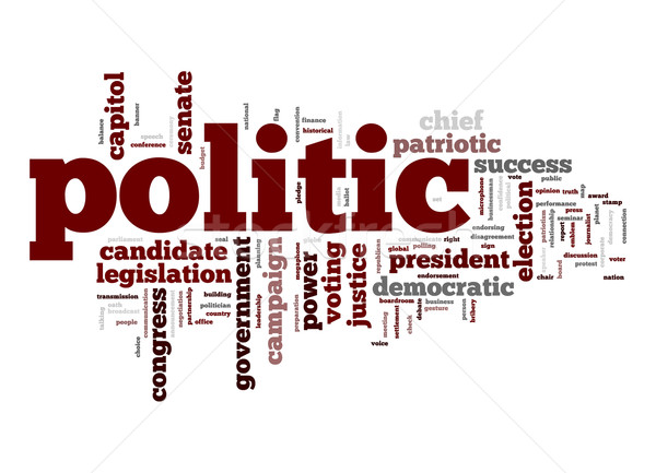 Politic word cloud Stock photo © tang90246