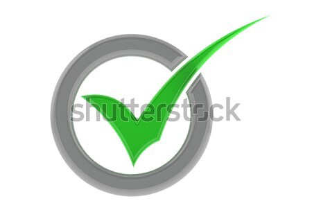 Verde verificare cerchio immagine reso Foto d'archivio © tang90246