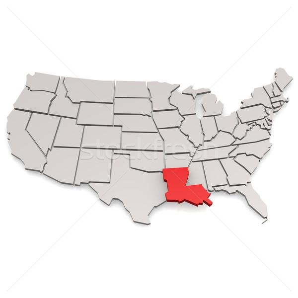 Louisiana mappa immagine reso usato Foto d'archivio © tang90246