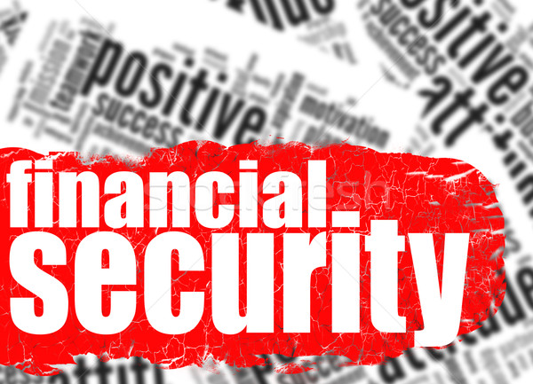 Word cloud financial security Stock photo © tang90246