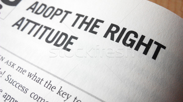 Adopt the right attitude word on a book Stock photo © tang90246