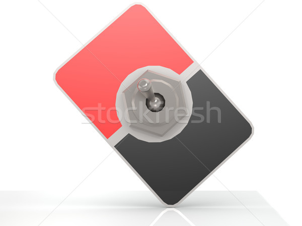 Blank red and black toggle switch Stock photo © tang90246