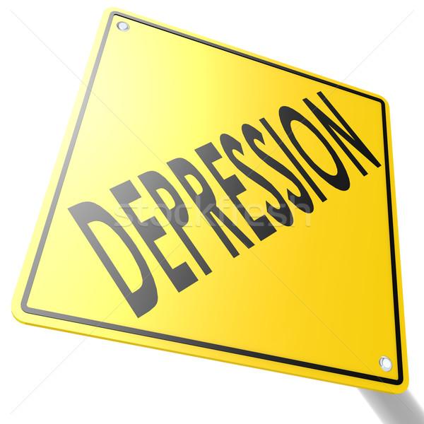 Cartello stradale depressione immagine reso usato Foto d'archivio © tang90246