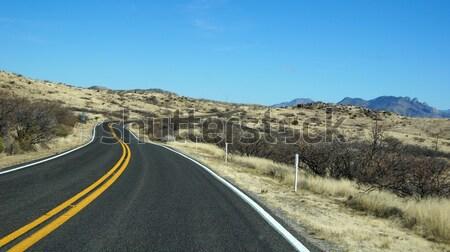 Yol Arizona gökyüzü doğa çöl seyahat Stok fotoğraf © tang90246