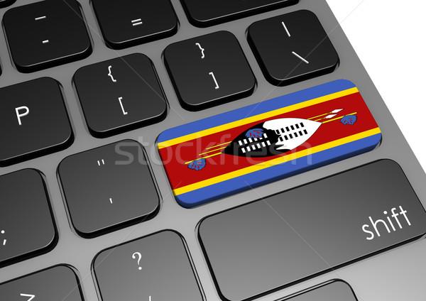 Swaziland clavier image rendu utilisé Photo stock © tang90246