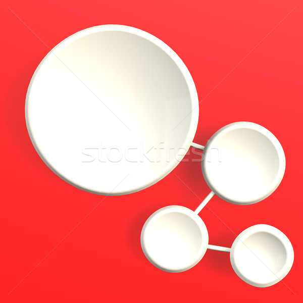 Chain diagram in red background Stock photo © tang90246