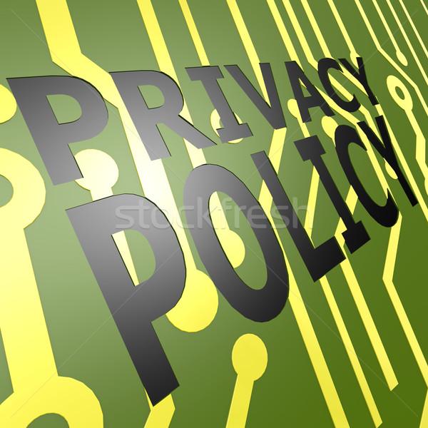 Conselho privacidade negócio fundo segurança Foto stock © tang90246