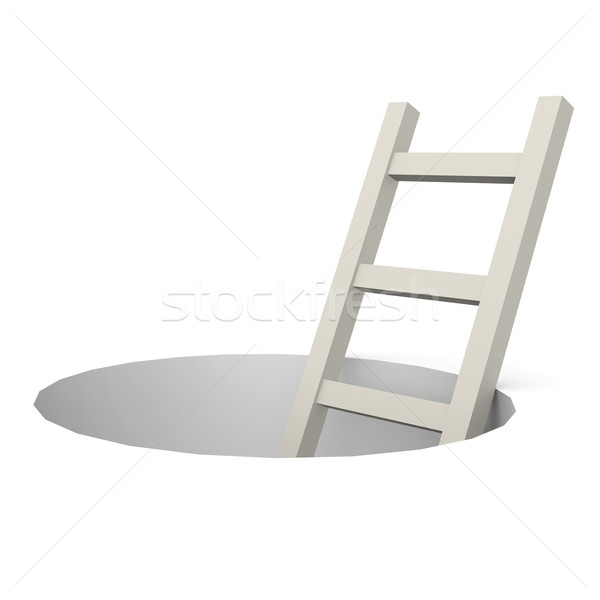 Ladder from hole  Stock photo © tang90246