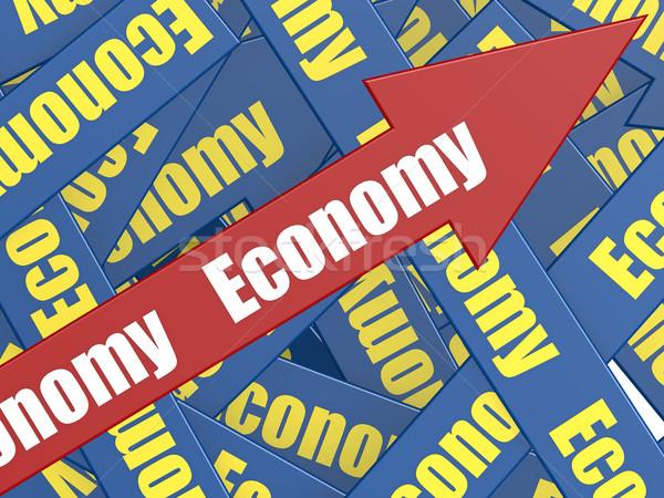 Economía flecha imagen prestados utilizado Foto stock © tang90246
