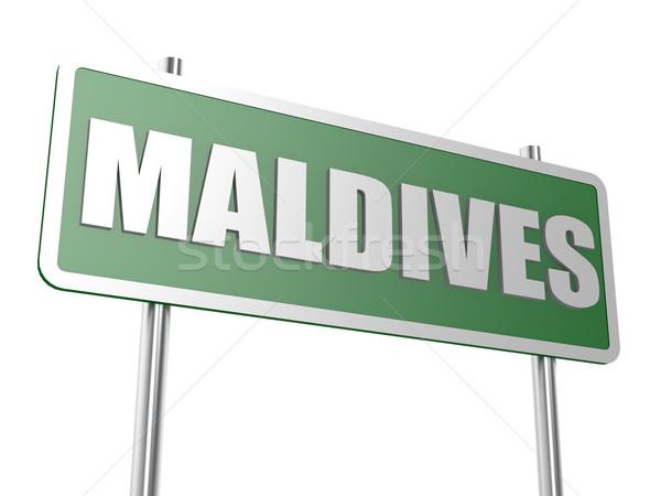 Мальдивы изображение оказанный используемый графического дизайна Сток-фото © tang90246