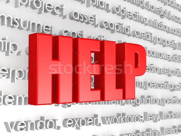 Ajudar nuvem da palavra feliz comunicação sucesso branco Foto stock © tang90246