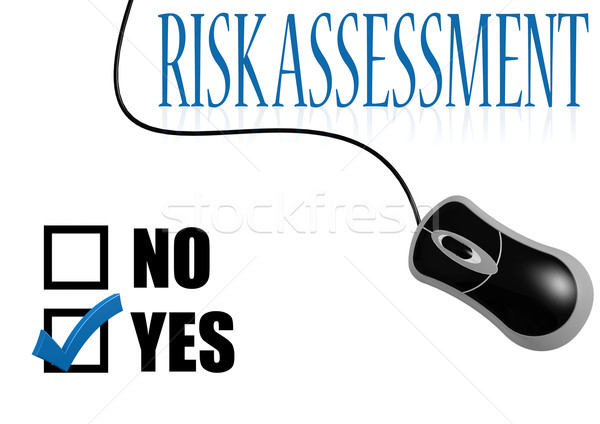 Risk assessment check mark Stock photo © tang90246