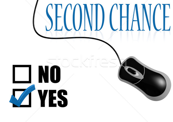 Second chance check mark Stock photo © tang90246