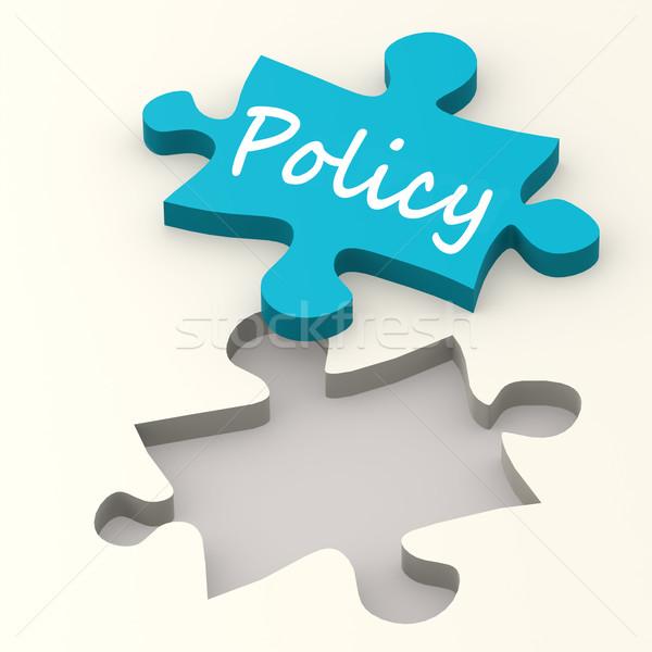 Polityka niebieski puzzle obraz świadczonych Zdjęcia stock © tang90246