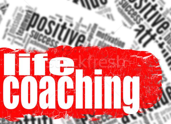 言葉の雲 生活 コーチング 画像 レンダリング ストックフォト © tang90246