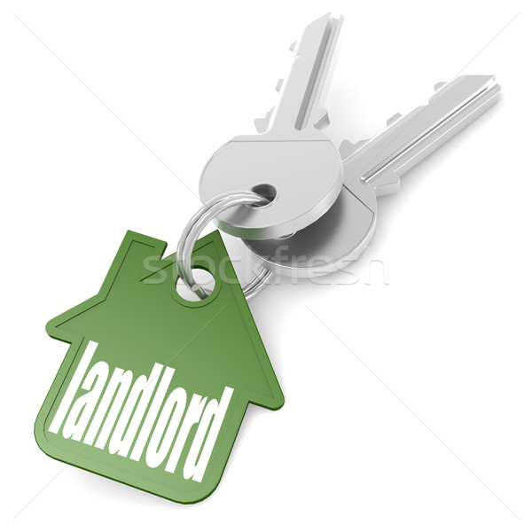 Keychain with landlord word Stock photo © tang90246