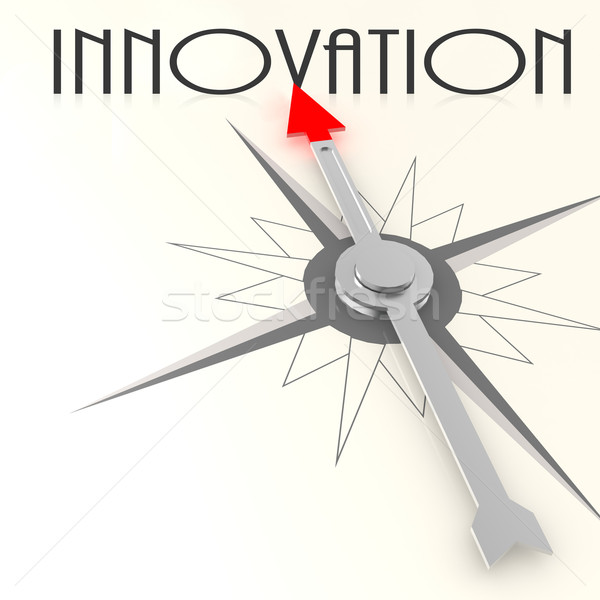 Compass with innovation word Stock photo © tang90246