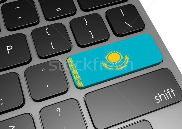 Cazaquistão teclado imagem prestados usado Foto stock © tang90246