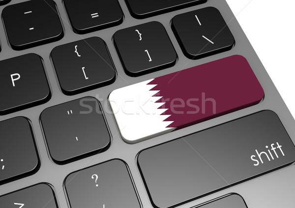 Catar teclado imagem prestados usado Foto stock © tang90246