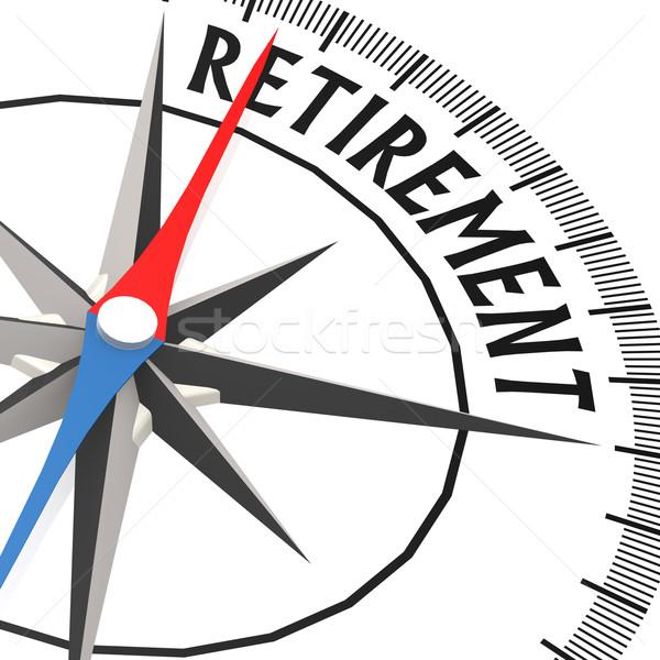 Kompas pensioen woord business financieren cash Stockfoto © tang90246