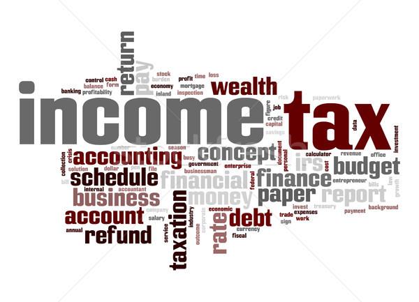 Income tax word cloud Stock photo © tang90246