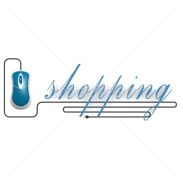 торговых слово Компьютерная мышь изображение оказанный Сток-фото © tang90246