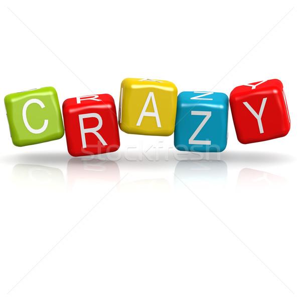 őrült színes divatszó kép renderelt mű Stock fotó © tang90246
