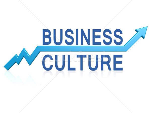 Negócio cultura azul seta imagem prestados Foto stock © tang90246