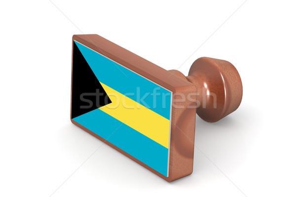 木製 スタンプ バハマ フラグ 画像 レンダリング ストックフォト © tang90246
