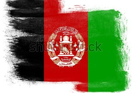 флаг Афганистан окрашенный щетка твердый аннотация Сток-фото © tang90246