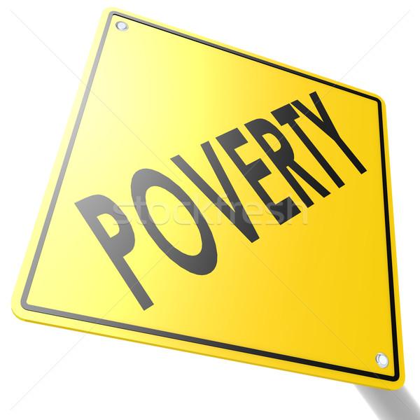 Yol işareti yoksulluk görüntü render kullanılmış Stok fotoğraf © tang90246