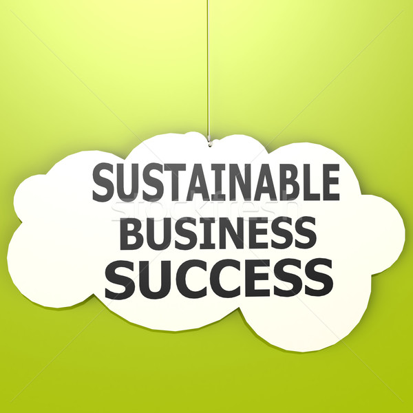 Sustainable business success Stock photo © tang90246