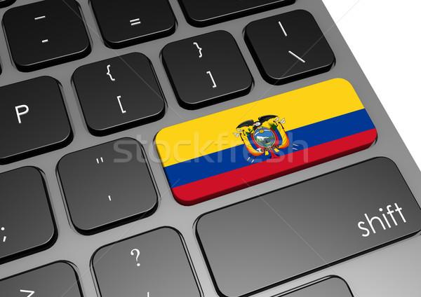 Ecuador toetsenbord afbeelding gerenderd gebruikt Stockfoto © tang90246