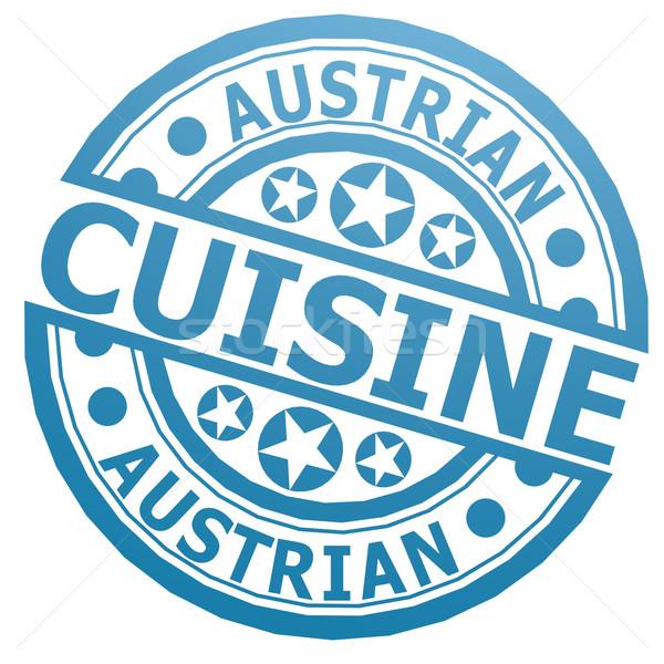 Austrian cuisine stamp Stock photo © tang90246
