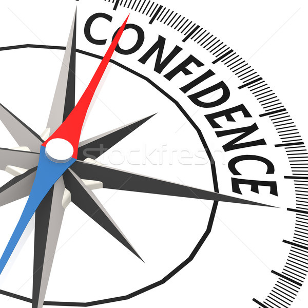Compass with confidence word Stock photo © tang90246