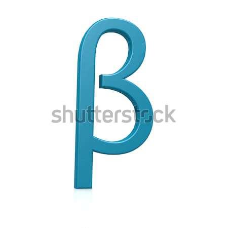 Blu beta design lettera informazioni greco Foto d'archivio © tang90246